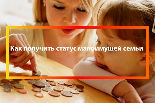 Какой доход для признания малоимущим